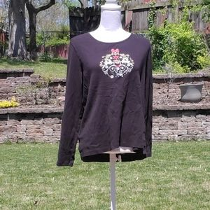 White Stag gray reindeer long sleeve top XXL 20